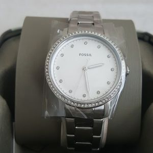 New Fossil Neely Three Hand Stainless Steel Watch